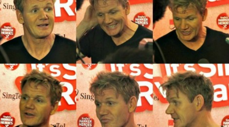 Up close & personal with Gordon Ramsay at the Hawker Heroes Challenge in Singapore!