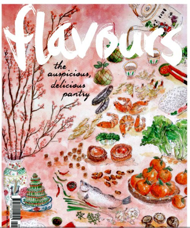 My recipes are featured in Flavours magazine!