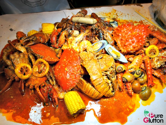 Seafood feast at Crab Factory, SS2 Petaling Jaya