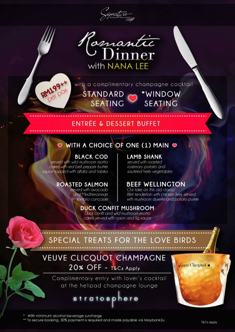 Signature Valentine Menu