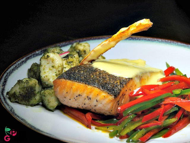 GRILLED ATLANTIC SALMON WITH GNOCCHI