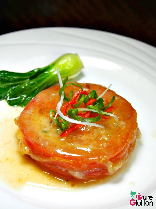 PAN-FRIED TOMATO WITH MINCED PORK