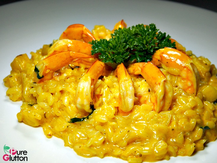 Risotto with Prawns & Curry Spices