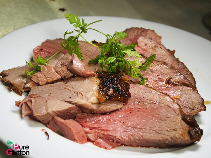 Roast Leg of Lamb - carved