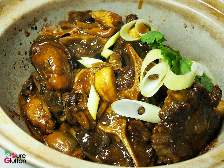 braised oxtail n oysters